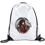 Discovery Wild Spirited Away Polyester Drawstring Backpack Tote Sport Bag Home Travel Sport Storage Use