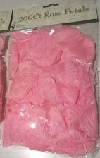 200 Ct Pink Rose Petals W/chiffon