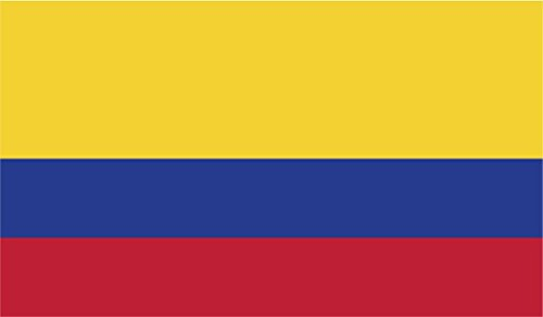 JMM Industries Colombia Flag Vinyl Decal Sticker Colombian Car Window Bumper 2-Pack 5-Inches by 3-Inches Premium Quality UV-Resistant Laminate PDS407
