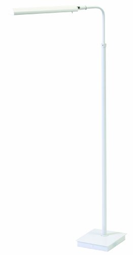 House of Troy G300-WT Generation Collection 37-Inch to 46-1/2-Inch Adjustable LED Pharmacy Floor Lamp, White