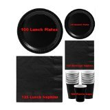 High Quality Amscan Black Mega Party Event Pack for 100 Guests! by Black Party Supplies