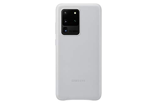 Samsung Galaxy S20 Ultra Case, Leather Back Cover - Silver (US Version) (EF-VG988LSEGUS)