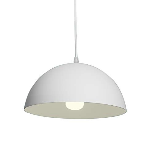 Pendant Light with Semi-Circle Lamp Shade Modern Lighting Fixture Kitchen Island Ceiling Lights for Dining Room, Living Room, Bedroom, Study Room, Bar Restaurant and Coffee Shop E26/27 Base