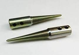 """Polishing Spindle 1/2"""" - 6"""" Bench Grinder Left and Right Hand Spindles. Set Of Two"""
