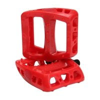 Odyssey BMX Pedal Twisted PC Pedals 9/16 inch red