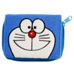 Lovely Cartoon Doraemon Style Square Shaped Plush Purse