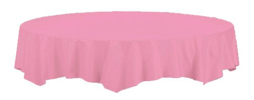 Creative Converting Octy-Round Paper Table Cover, 82-Inch, Candy