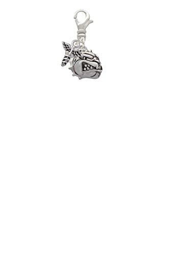 Small Bulldog - Mascot Mini Caduceus Clip On Charm
