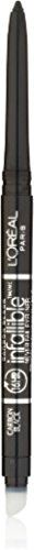 L'Oreal Infallible Never Fail Eyeliner, Carbon Black [591], 0.08 oz (Pack of 6)