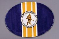 West Virginia Mountaineers Ceramic - Magnolia Lane Collegiate Ceramic Mascot Platter (West Virginia Mountaineers)