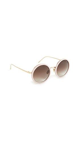 Linda Farrow Luxe Women's Round Mirrored Sunglasses, Milky Pink/Rose Gold, One - Linda Farrow Sunglasses