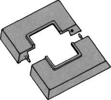 Abdeckung f/ür Standkonsolen Lochung 25x25mm Einzel-Rosetten f/ür Standkonsolen 2 St/ück; ABS