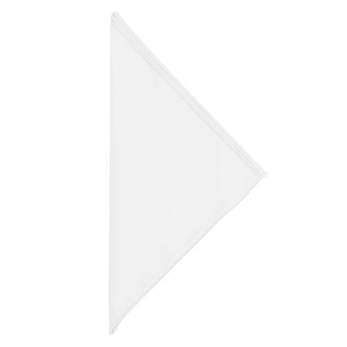 Ultimate Textile -5 Dozen- Poly-Cotton Twill 10 x 10-Inch Cloth Cocktail Napkins, White by Ultimate Textile (Image #1)