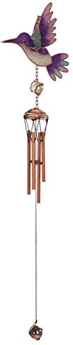 Cheap StealStreet SS-G-99363 Copper Toned Wind Chime with Purple Hummingbird In Flight, 22.5″