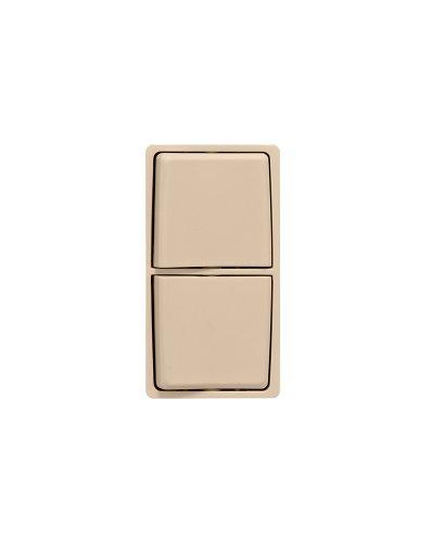Leviton RK634-DT Renu Combination Switch Color Change Kit, Dapper Tan