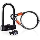 BV U Lock with Flex Cable, Heavy Duty Bicycle U Lock(Mounting Bracket Included)