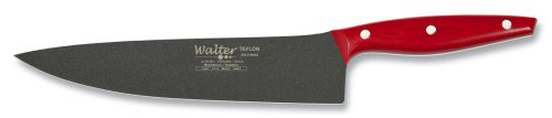Walter 6787 Teflon 9-4/5-Inch (25 cm) Chef's Knife with Red Handle by Walter