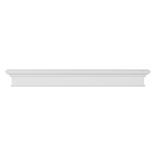 Pearl Mantels 610-72 Henry Mantel Shelf, 72-Inch, White