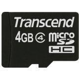 Transcend TS4GUSDHC4 4 GB microSD High Capacity (microSDHC) - 1 Card - Class 4 ()