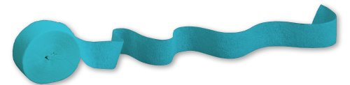 Creative Converting Touch of Color Crepe Paper Streamer Roll, 81-Feet, Bermuda Blue