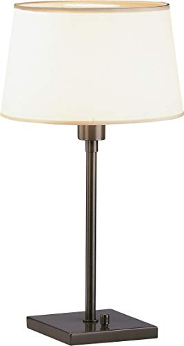(Robert Abbey Z1812 Lamps with Snowflake Fabric and Top Diffuser Shades, Deep Bronze Powder Coat Finish)