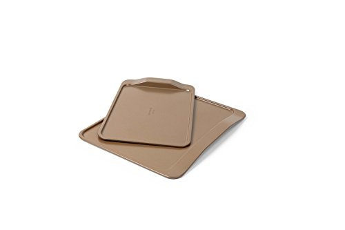 Calphalon 2 Piece Nonstick Bakeware Cookie Sheet Set, Toffee ()