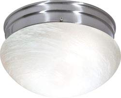 Replacement for 60/2635 2 Light ES Medium Mushroom with Alabaster Glass 2 13W GU24 Lamps Included Brushed Nickel Utility