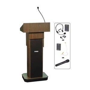 AmpliVox - SW505A-WT/S1605 - Lectern w/Sound, Walnut, 46-1/2x22x15 (S1605 Lectern)