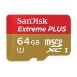 SanDisk Extreme Plus 64 GB Class 10 UHS-I U1/U3 microSDXC Memory Card