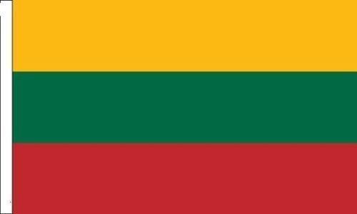Lituanie Drapeau Convient pour bateaux à manches 45cm x 30cm (45,7x 30,5cm) + 59MM Bouton Badge