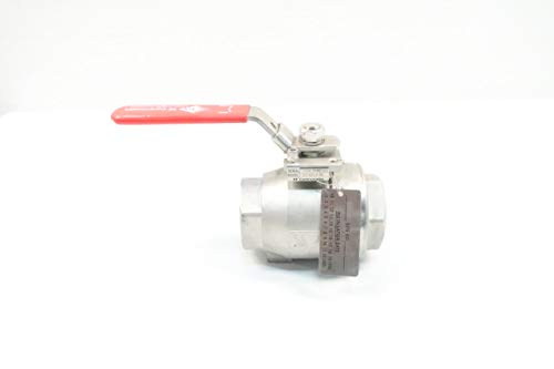 KF CONTROMATICS Z44 GS LH M3 Manual 150 Stainless 2IN NPT Ball Valve D628461 from K F Contromatics