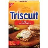 Triscuit Rye with Caraway Seed, 9-Ounce (Pack of 6)
