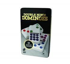 Cardinal Industries Double Nine Dominoes 55 Jumbo Size Color-Dot Pieces (Jumbo 9 Piece)
