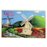 Exquisite Wooden Puzzle Toy Decoration for Children-Large Size/Dutch Windmill