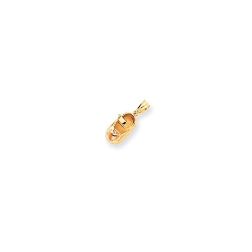 ICE CARATS 14kt Two Tone Yellow Gold Baby Shoe Pendant Charm Necklace Fine Jewelry Ideal Gifts For Women Gift Set From Heart 14kt Gold Baby Shoe Jewelry