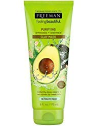 Freeman Feeling Beautiful Facial Clay Masque Avocado & Oatmeal 6 oz ( Pack of 3) ()