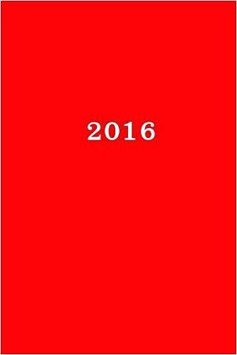 2016: Calendario/Scadenzario: 1 settimana per 2 pagine, Formato 6