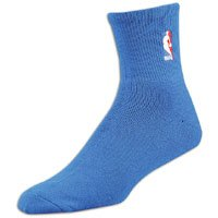Nba For Feet Socks Quarter Bare - NBA Logoman Quarter Length Sock - Royal Blue - Royal Large