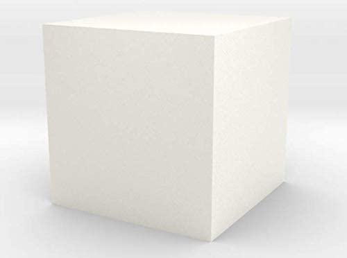 White Processed Versatile Plastic Cube 1 cm in Camera /& Photo