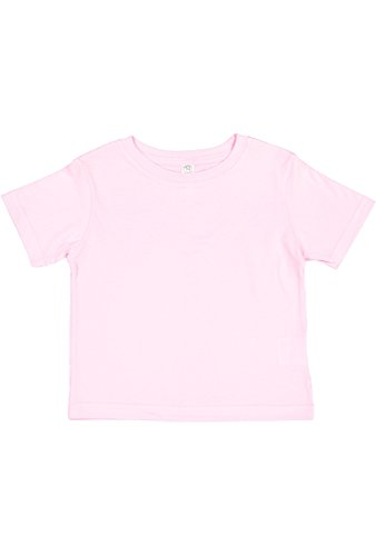 Infant Toddler Tee - Rabbit Skins Infant 100% Cotton Jersey Short Sleeve Tee (Pink, 6 Months)