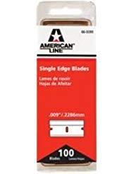 American Line 66-0089-DISP LINE SINGLE EDGE RAZOR BLADES, 100 BLADES PER PACK (25 PACKS)