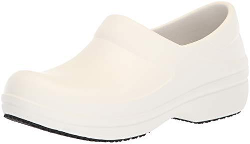 Crocs Women's Neria Pro II Clog W, White, W4 M US -  205384-100-100-W4 M US