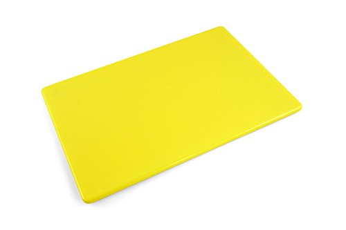 Commercial Grade Plastic Cutting Board, NSF - 12 x 18 x 0.5 inches (Yellow) by Thirteen Chefs