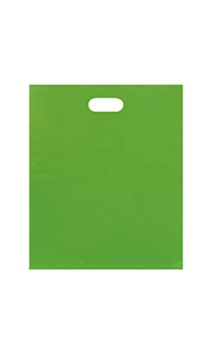 (SSWBasics Large Low Density Clearly Lime Merchandise Bags - 15