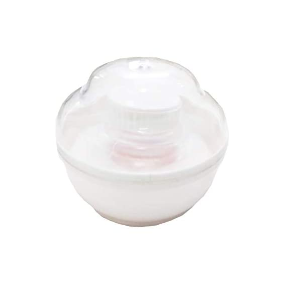 Cloudaby High Grade Plastic, Unbreakable Powder Puff White (Pack of 1)