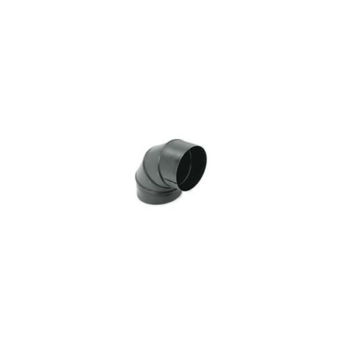 Gray Metal Products Inc. 7-24-602-R 7 Inch 24-ga Snap-Lock Black Stovepipe 90 Deg Sectioned Adjustable Elbow