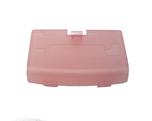 Games&Tech Fuchsia Clear Pink Battery Cover Door Lid for Nintendo GBA Game Boy - Cover Door Pink Battery