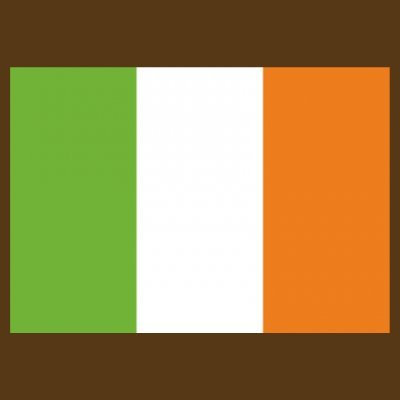 Sudadera con capucha de mujer Ireland Flag by Shirtcity Marrón
