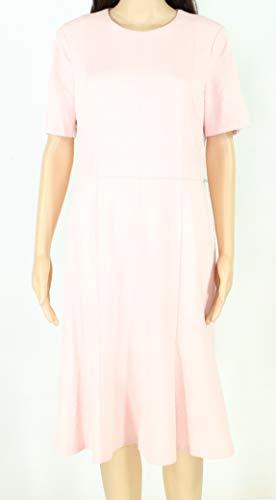 - Donna Morgan Womens Light Textured Seamed Shift Dress Pink 10