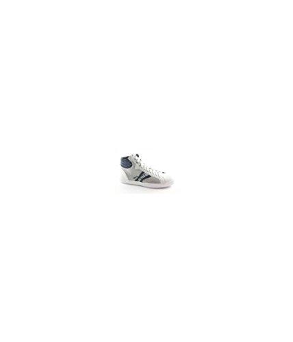 Nero Giardini Black Gardens 4103 Weiße Schuhe Mitte Sportlichen Reißverschluss Sneaker Schnürsenkel Bianco